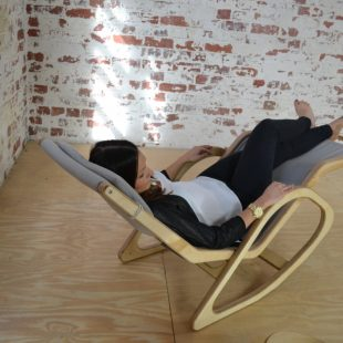 "The ""Onada Siesta Chair"" is a mid-century inspired ergonomic reclining chaise lounge"